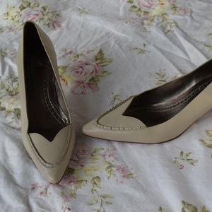 Brooks Brothers White Leather Heels